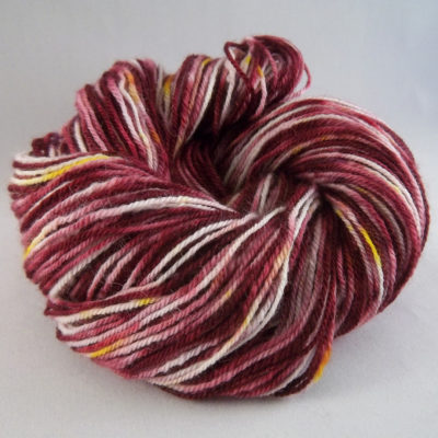 hand dyed alpaca yarn from Snowshoe Farm, Peacham, VT