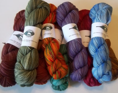 alpaca yarn from Snowshoe Farm