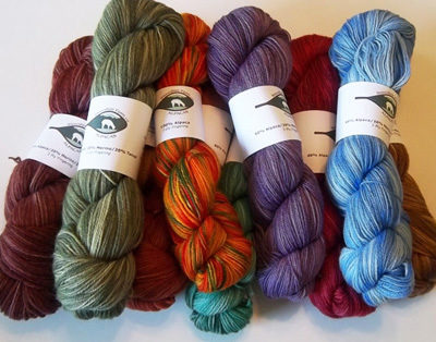 alpaca yarn from Snowshoe Farm, Peacham, Vermont